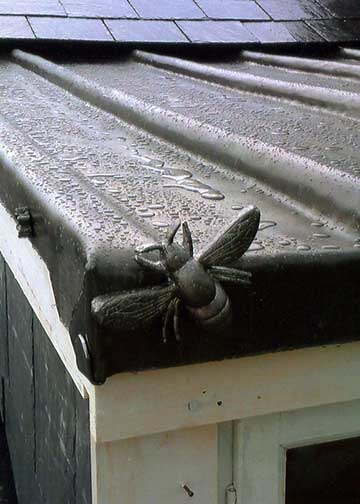 lead-work with fly on a roof in Bath