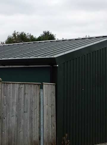 metal sheeting roof Bath