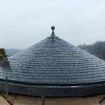 Completed natural slate roof